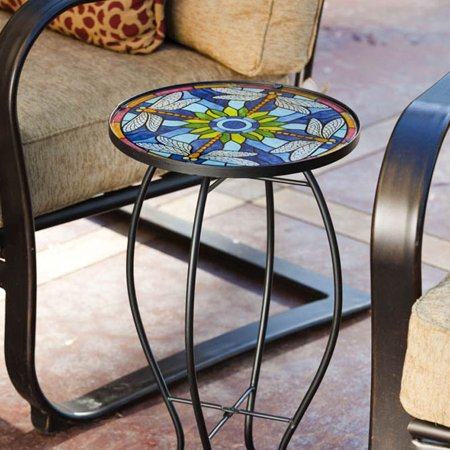 Tiffany Inspired Dragonfly Glass Table ()