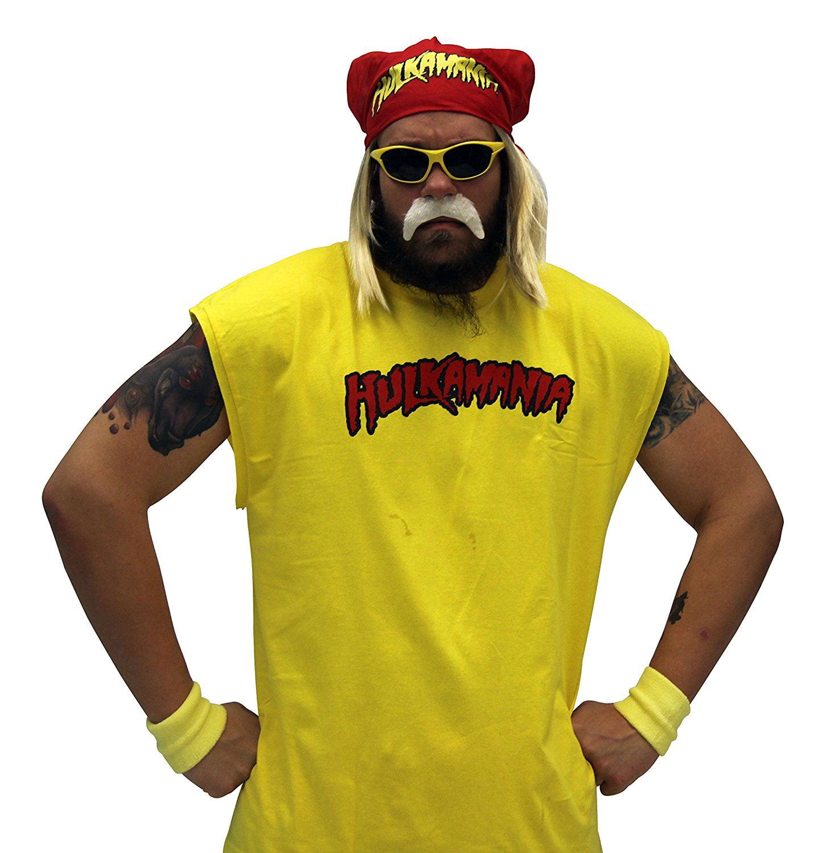 Adult Hulkamania NWO New World Order Hollywood Hulk Hogan Complete Costume Set