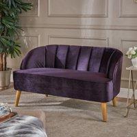 Christopher Knight Home Amaia Modern Velvet Loveseat Sofa by
