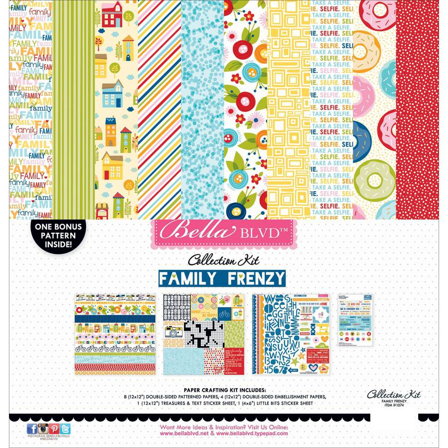 Bella Blvd Collection Kit 12 Inch X 12 Inch-Family Frenzy