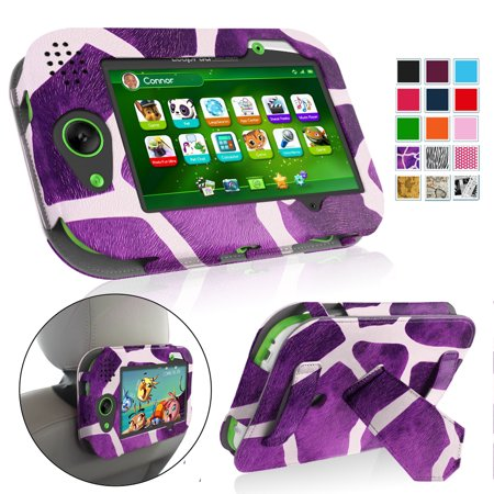 Fintie LeapPad Platinum/Ultra/Ultra XDI 7-Inch Tablet Case Standing Cover with Car Headrest Mount Holder, Giraffe Purple