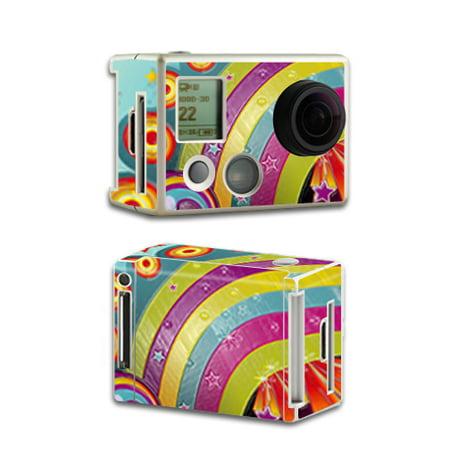 Skin Decal Wrap for GoPro HD Hero2 Camera Digital Black Diamond Plate Black & White Camera