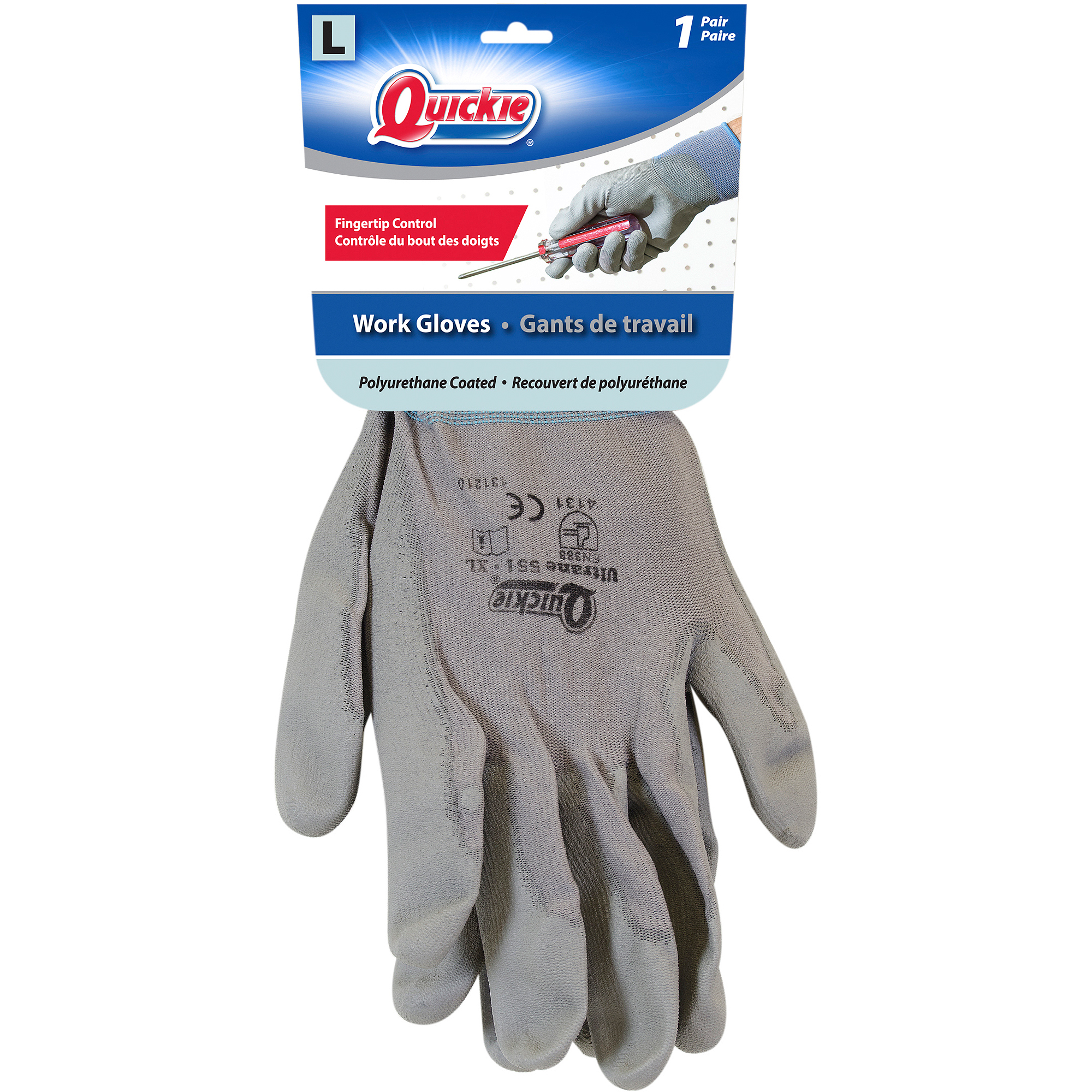 Quickie Work Gloves, Large