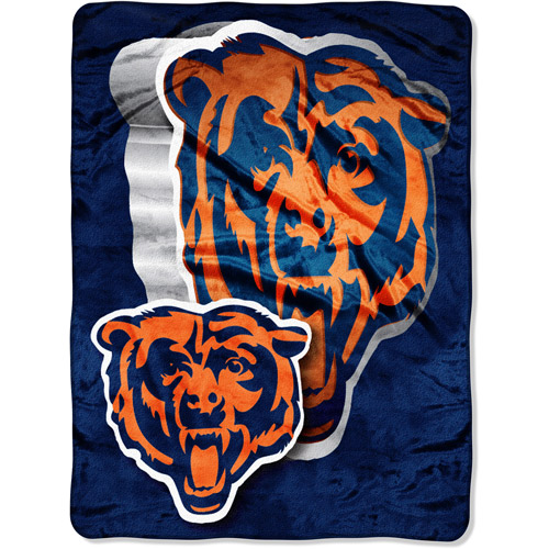 "NFL Bevel 60"" x 80"" Micro-Raschel Throw, Bears"