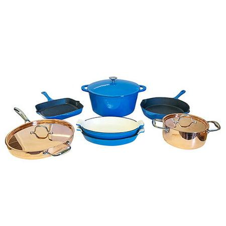 Le Chef 10-Piece Multi-Purpose Cookware Set, (Multi-Colored, FBCL) ()