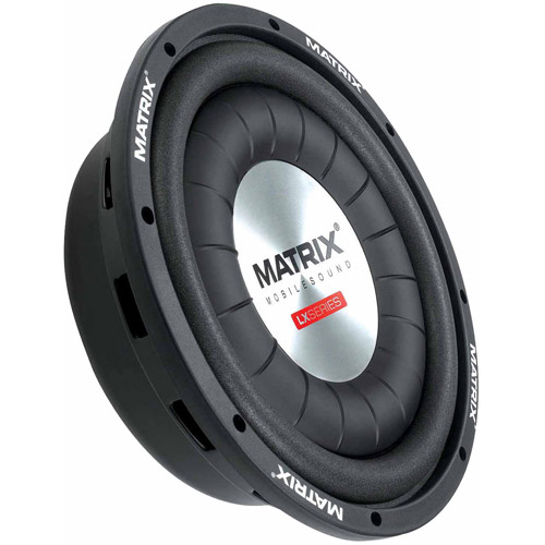 "Matrix Mobilesound 12"" Subwoofer, Low-Profile, 1000W"