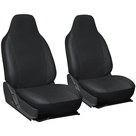 Oxgord 2 Piece Integrated Faux Leather Bucket Seat Covers Universal Fit For Car