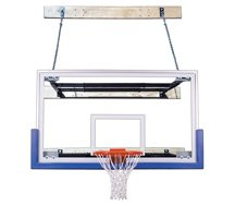 First Team SupermMount46 Triumph Steel-Glass Wall Mounted Basketball System44; Royal Blue