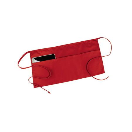 Image of Ed Garments Three Pocket Waist Apron, RED, One Size