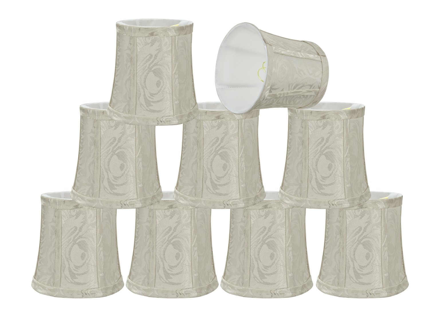 Aspen Creative 30363-2 Small Bell Shape Chandelier Clip-On Lampshade Set (2 Pack), Transitional Design in Off White,... by Aspen Creative Corporation