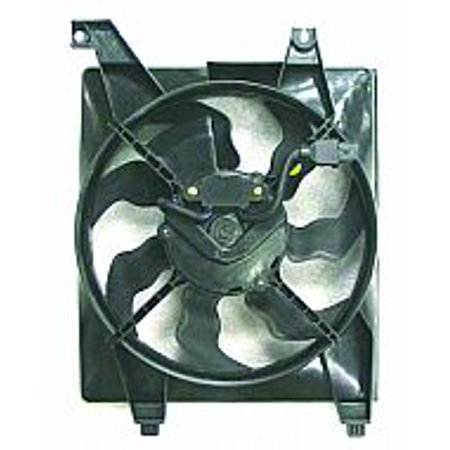 Go-Parts OE Replacement for 2006 - 2011 Hyundai Accent Condenser Cooling Fan Assembly 97730-1E000 HY3120100 Replacement For Hyundai Accent