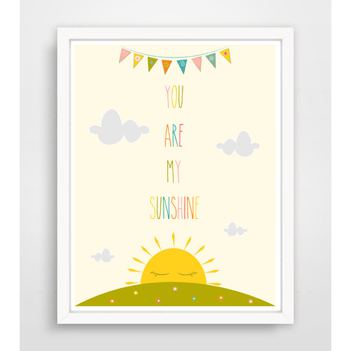 Finny and Zook You Are My Sunshine Paper Print