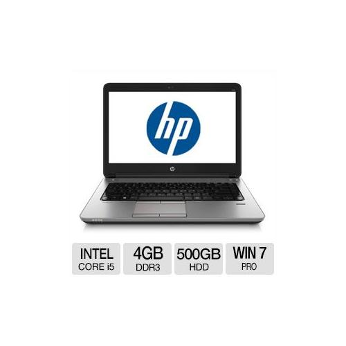 "HP ProBook 640 G1 Intel Core i5 4GB Memory 500GB HDD 14.0"" Notebook Windows 7 Professional / Windows 8 Pro 64-bit - F2R0"