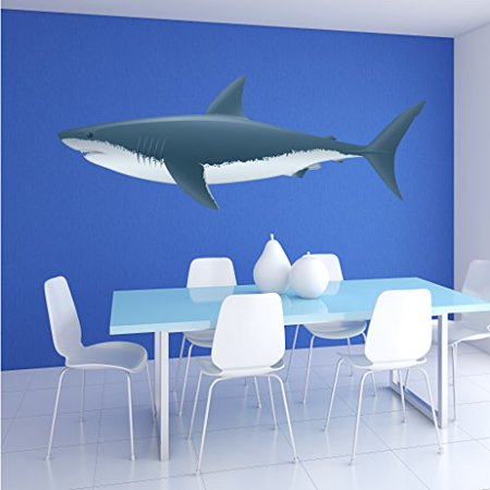Colorful Shark Wall Decal - Wall Sticker, Vinyl Wall Art, Home Decor, Wall Mural - SD3021 - 16x5 (Shrek Wall Decals)