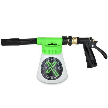 Liquid X Foam Wash Gun - Car Washing Made Simple! - Works with Regular Garden Hose (Fireman With Hose)