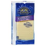 Crystal Farms Baby Swiss Deli Sliced Cheese, 7 oz