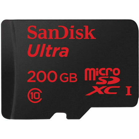SanDisk 200GB Ultra microSDXC UHS-I Memory Card (Samsung 7 Inch Tablet Sd Card)