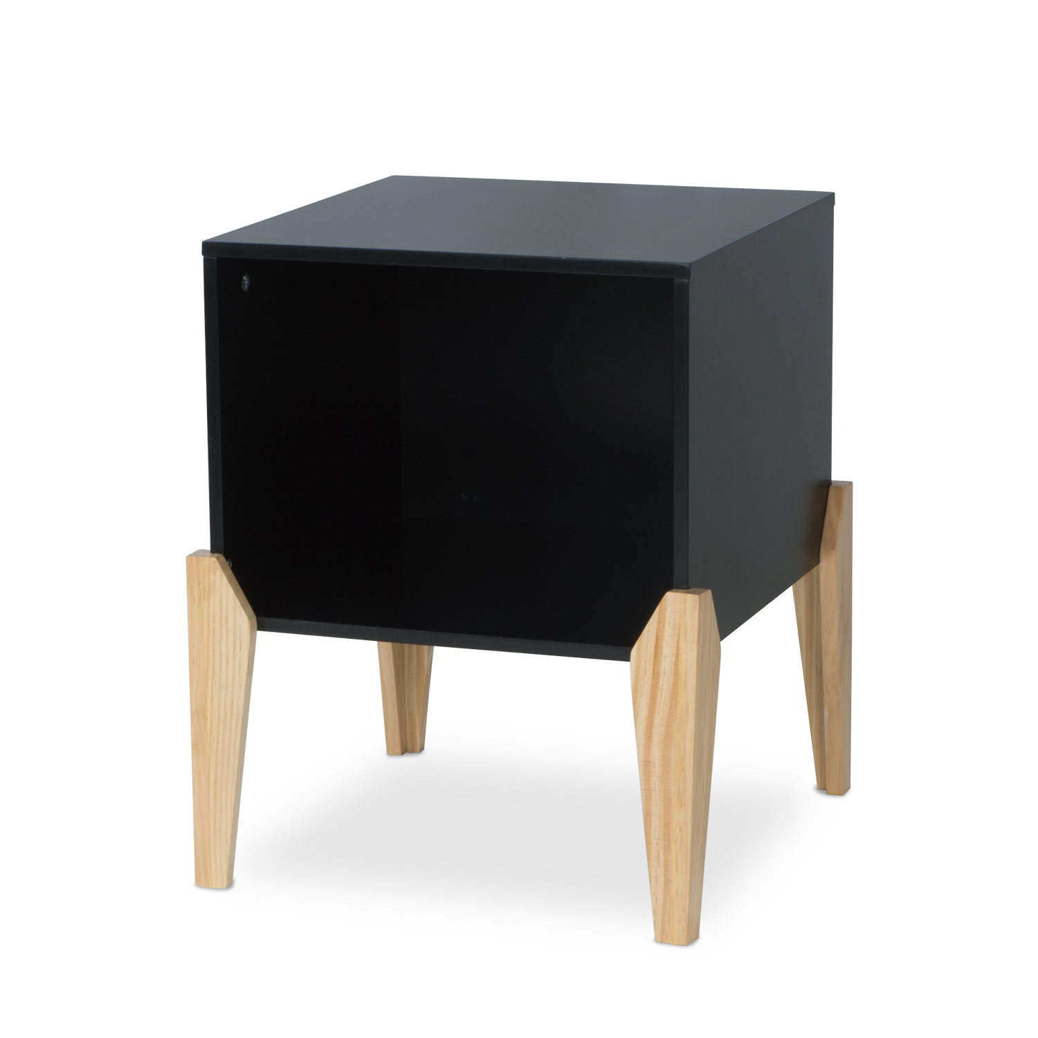 Mainstays Bedroom Nightstand, Open Wood End Table In Multiple Colors