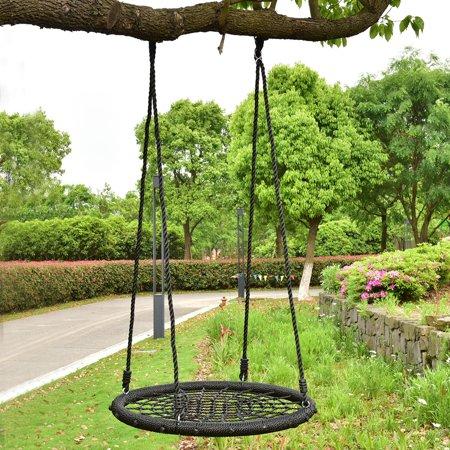 Costway 31 5 Kid Tree Round Swing Net Outdoor Garden Children Toddler Hanging Rope Nest