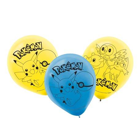 Pokemon Party Supplies 6 Latex Balloons - Wholesale Pokemon