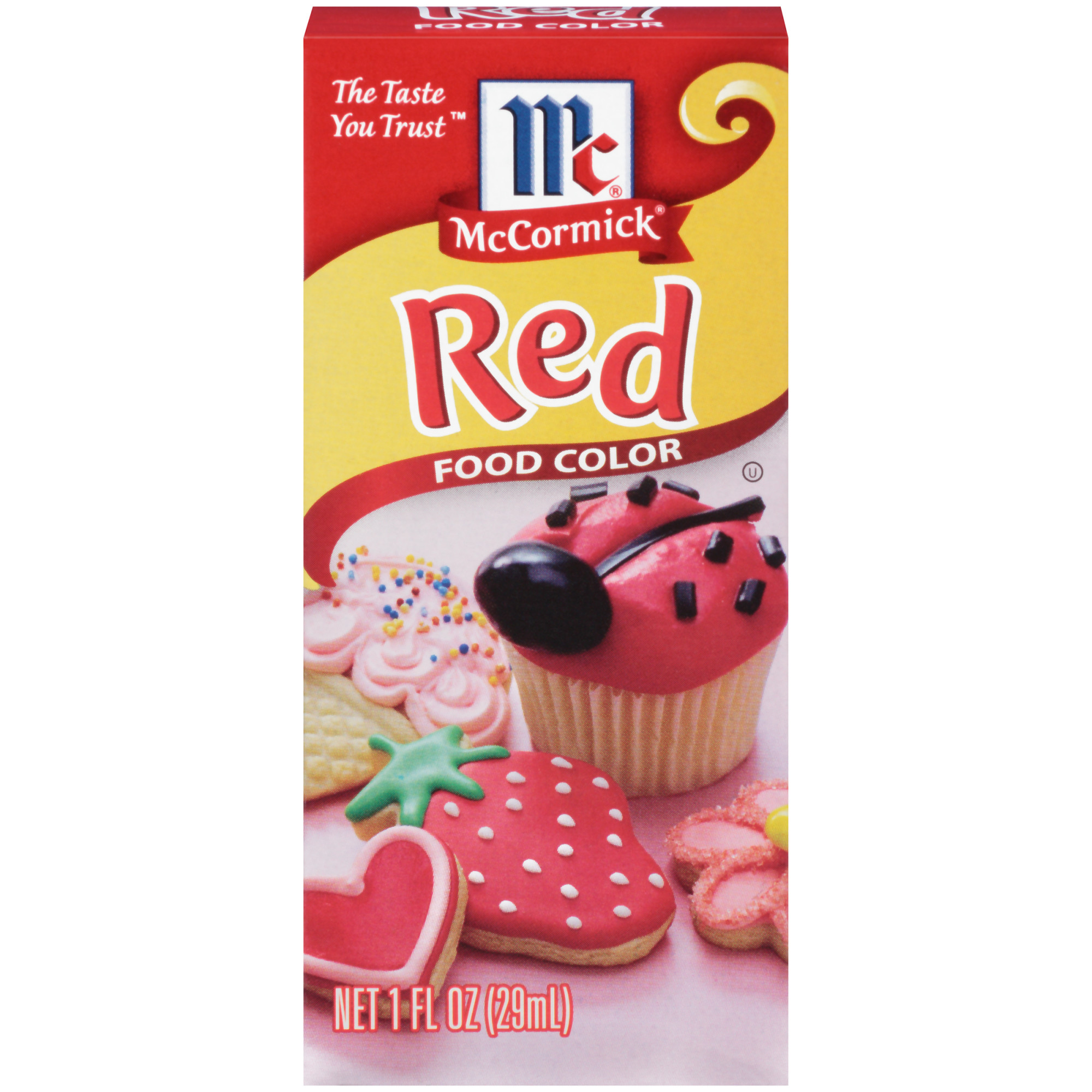 McCormick Red Food Color, 1 fl oz - Walmart.com