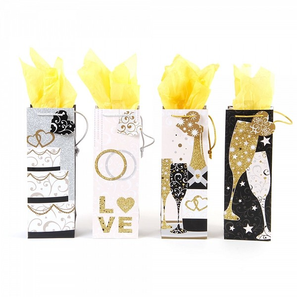Flomo Bottle Bubbly Wishes Wedding Gift Bags Assorted Walmart Com