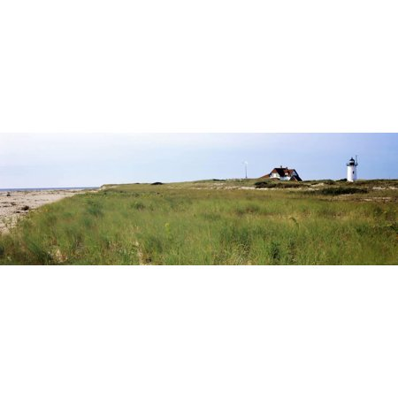 Lighthouse on the Beach, Race Point Light, Provincetown, Cape Cod, Barnstable County Print Wall Art By Panoramic Images ()