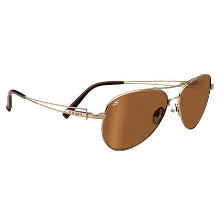 Serengeti Eyewear Sunglasses Brando 8456 Bold Gold Driver Polarized Lens