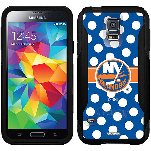 New York Islanders Polka Dots Design on OtterBox Commuter Series Case for Samsung Galaxy S5