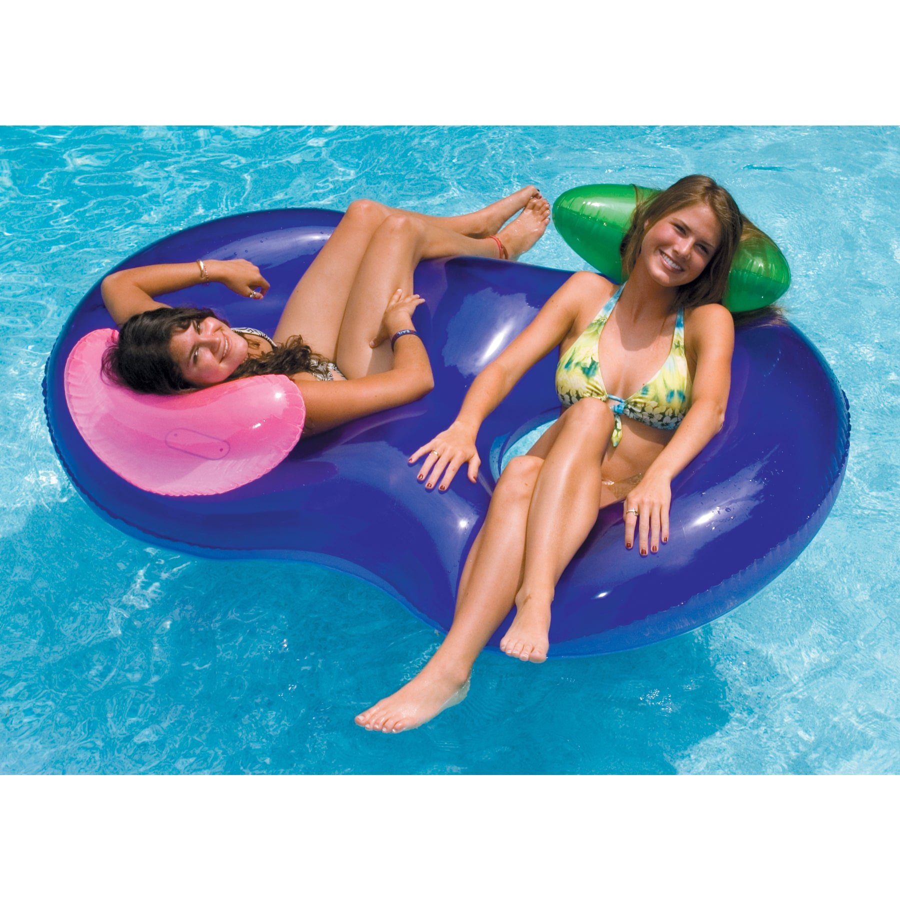 Swimline SideBySide Inflatable Lounger for Swimming Pools
