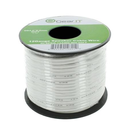 Speaker Wire , 12-Gauge Speaker Wire, GearIT 12AWG (50 Feet / 15.24 Meters) High Quality Speaker Wire,