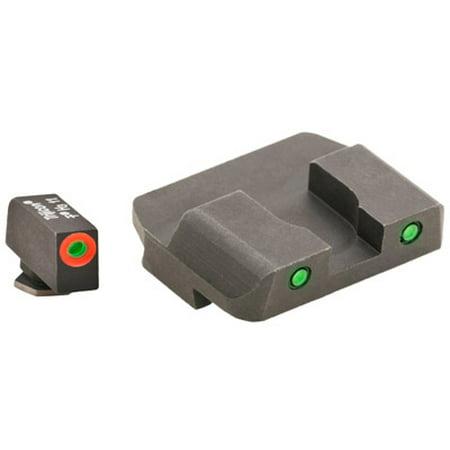 Spartan Plasma Pistol - AmeriGlo Spartan Tactical Operator Sights for Glock 17, 19, 22, 23, 24, 26, 27, 33, 34, 35, 37, 38, 39, Green/Green, ProGlo Front Sight with Orange Outline, Pro-Operator Tritium Rear