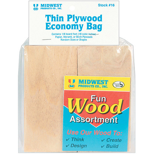 Midwest Products Wood Assortment Economy Bag, Thin Plywood