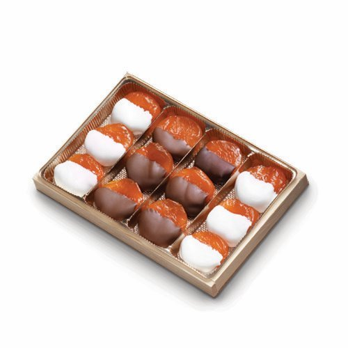 Torn Ranch 12-Count Glaced Apricots Half-Dipped in Chocolate