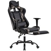 PC Gaming Chair Ergonomic Office Chair Desk Chair with Lumbar Support Headrest Arms Footrest Modern Task Rolling Swivel High Back PU Leather Computer Chair for Women Adults, Camo