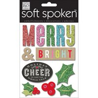 Soft Spoken Themed Embellishments, Merry and Bright