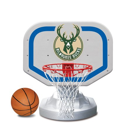 Milwaukee Bucks Nba Basketball (Poolmaster Milwaukee Bucks NBA USA Competition-Style Poolside Basketball)
