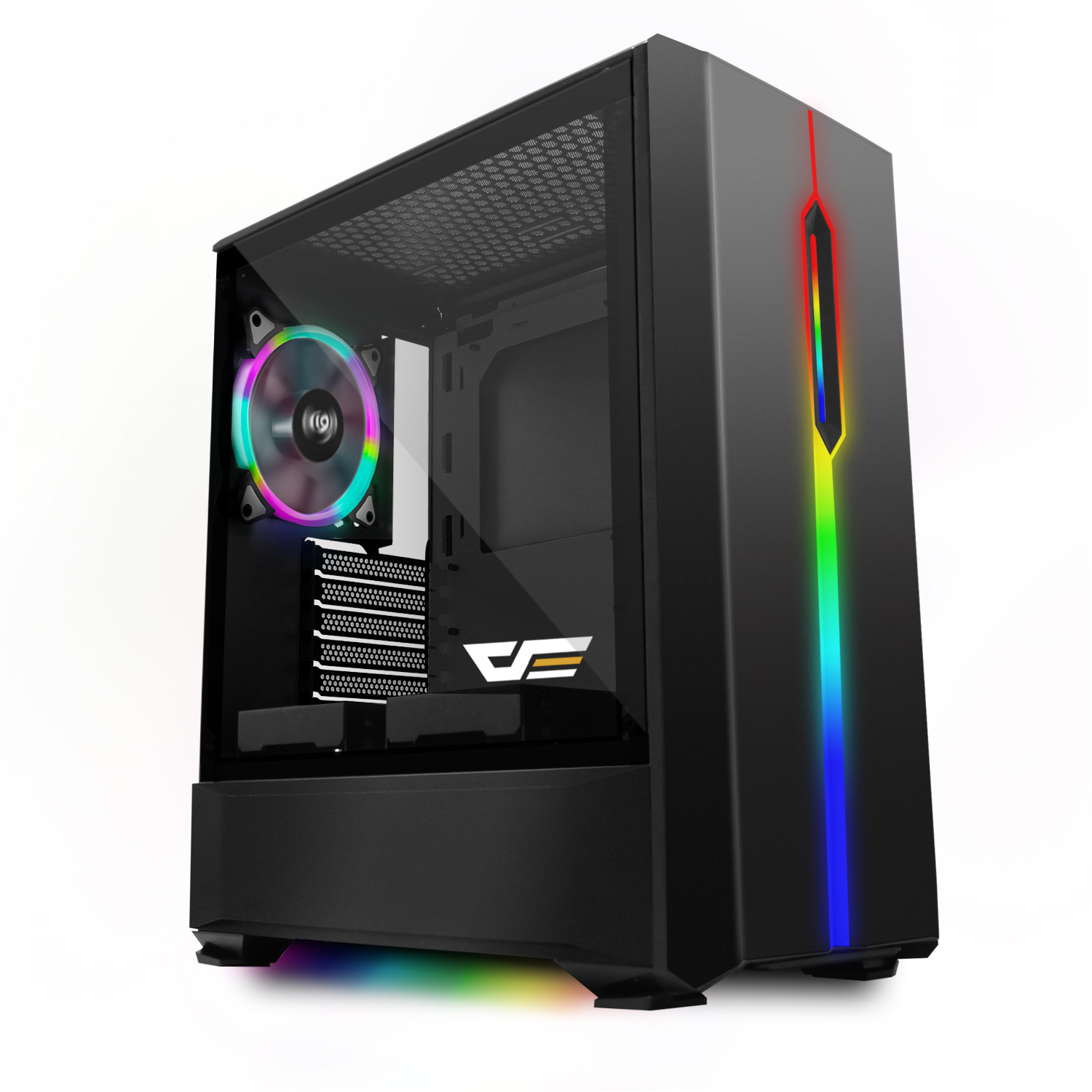 DarkFlash T20 Black ATX Mid-Tower Desktop Computer Gaming