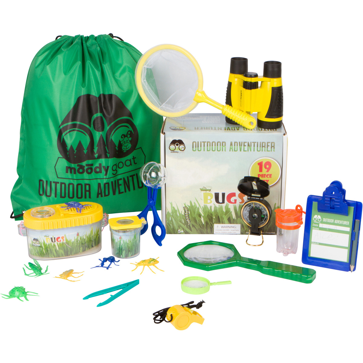 Moody Goat's Adventure Set 19Pc Backyard And Insect Bug Exploration by