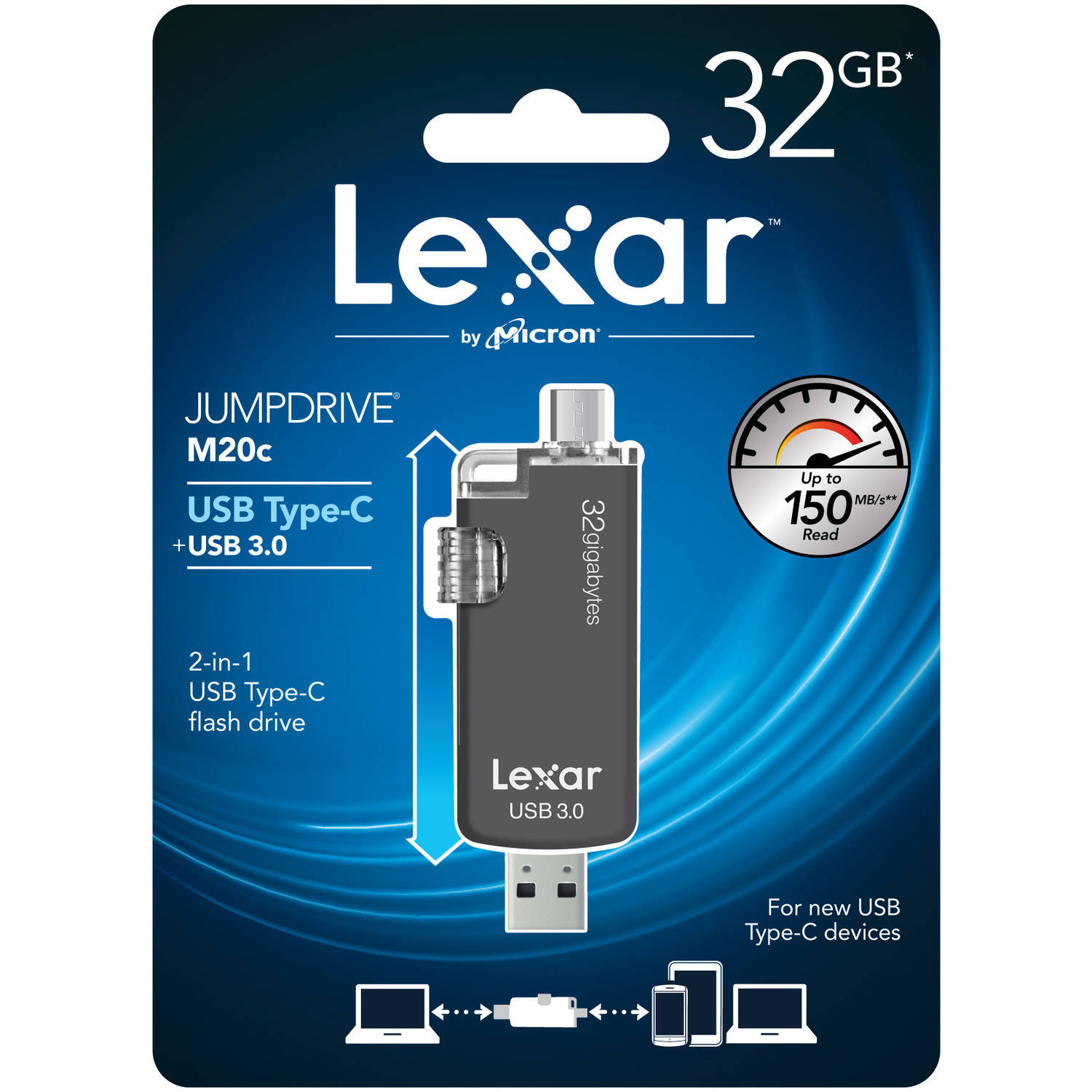 Lexar M20c 32GB JumpDrive USB Type-C Flash Drive