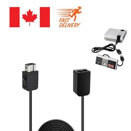 5FT Black Extension Cable Cord For Nintendo Classic Mini NES Controller - image 3 de 3