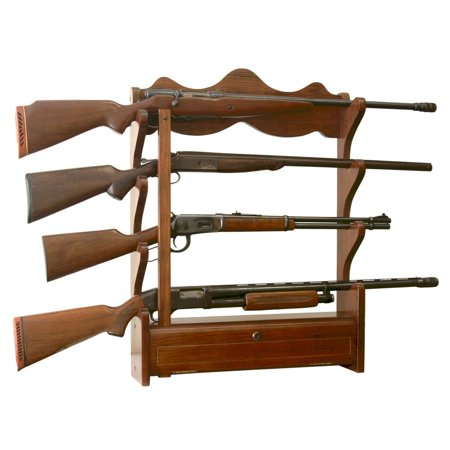 4 Gun Wall Rack with locking storage compartment thumbnail