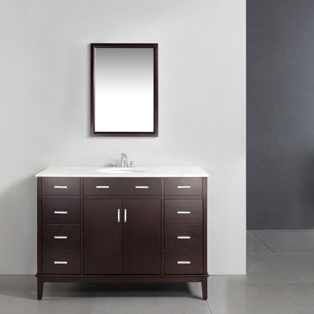 "Brooklyn + Max Rockport 48"" Dark Espresso Brown Bath Vanity"
