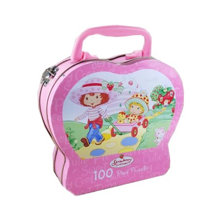 Warren Strawberry Shortcake Tin 100 Piece Jigsaw (Strawberry Shortcake Puzzle)