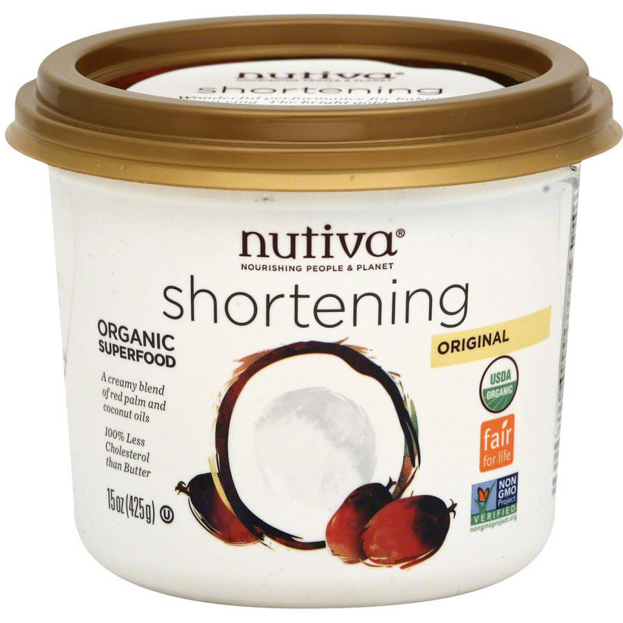 Nutiva Organic Red Palm Shortening, 15 oz, (Pack of 6)