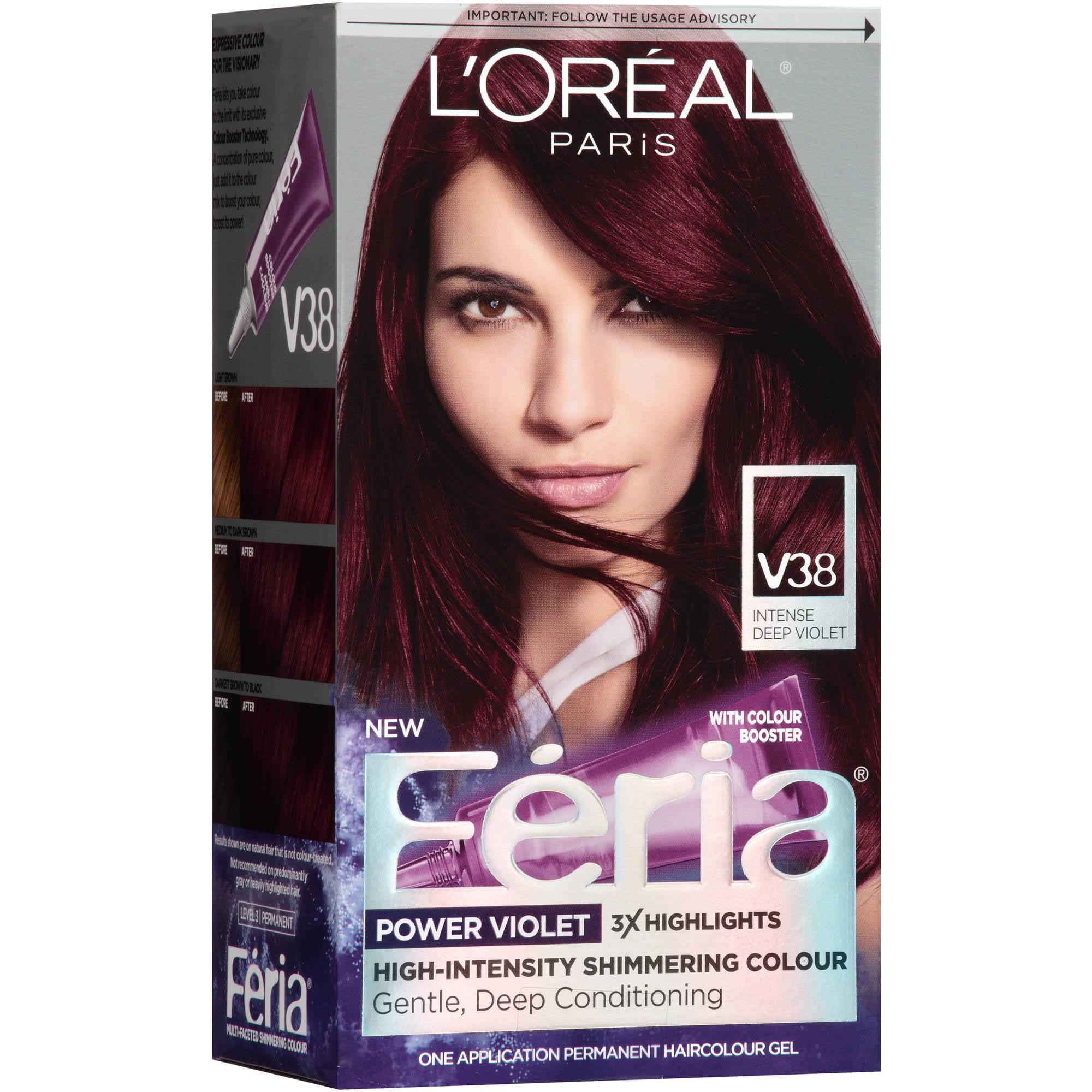 L Oreal Paris Feria Power Violet Hair Color Gel Kit V38