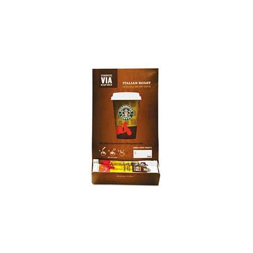 Starbucks 11008130 VIA Ready Brew Coffee, 3-25 oz, Italian Roast, 50-Box