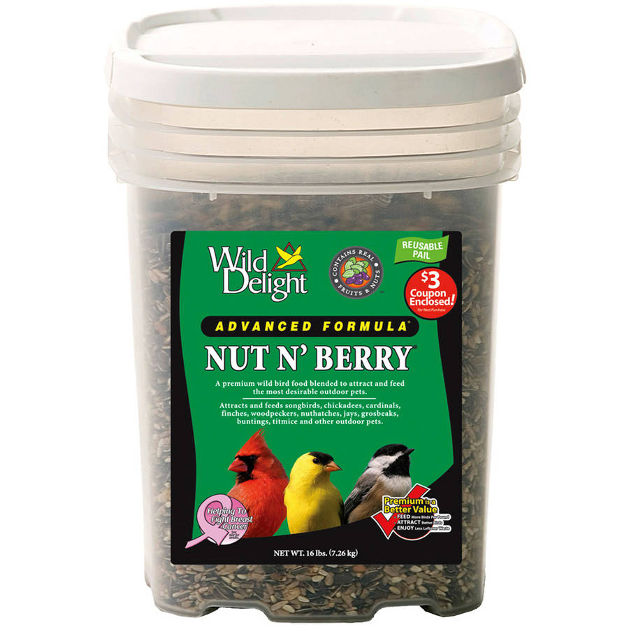 Wild Delight 382316 16 Lb Pail Nut N' Berry Food