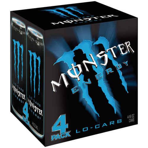Monster Lo-Carb Energy Drink, 16 fl oz, 4 count