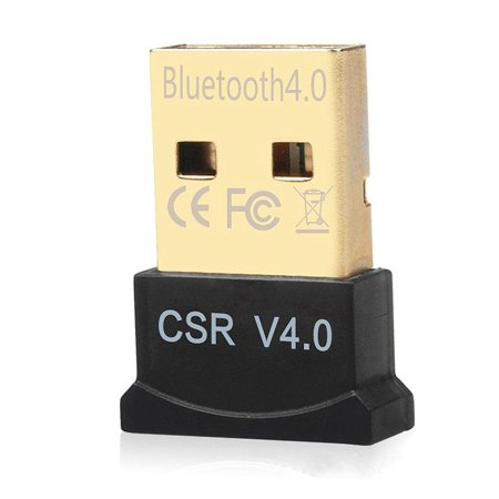 TSV Bluetooth Adapter, CSR 4.0 USB Dongle Bluetooth Receiver / Transfer Gold Plated for Laptop PC Computer Support Windows 10 8 7 Vista XP